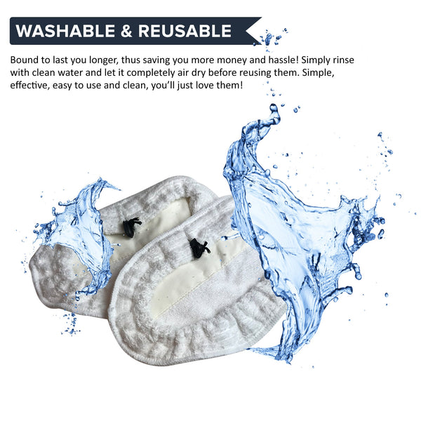 8pk Replacement Microfiber Steam Mop Pads, Fits Bissell Steam Mop, Compatible with Part 203-2158, 3255, 32525 & 42G3A