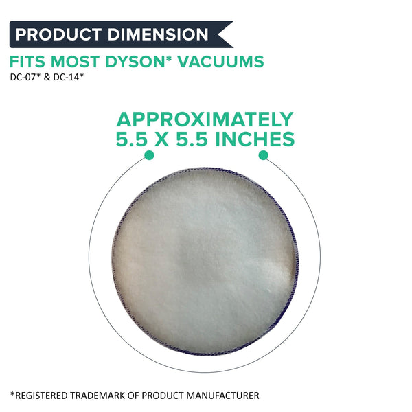 Crucial Vacuum Air Filter Replacement - Compatible With Dyson DC-14, Replaces Pre-Motor HEPA Style Filter Part 20-520 46-3305-01, Models 116-20612, 116-20712, 116-20812, 116-20912, 116-21612