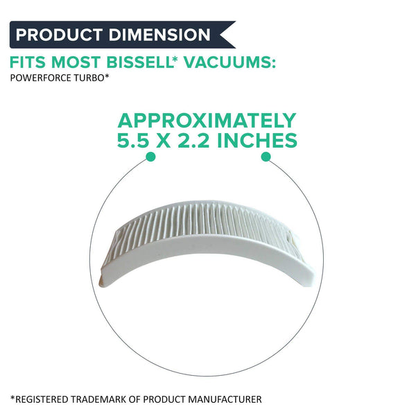 Think Crucial Replacement Air Filter - Compatible with Bissell Style 12 - HEPA Style Filter Parts For PowerForce Bagless Models 6594, 6594F - Pair with Part #203-1402 and 203-8037