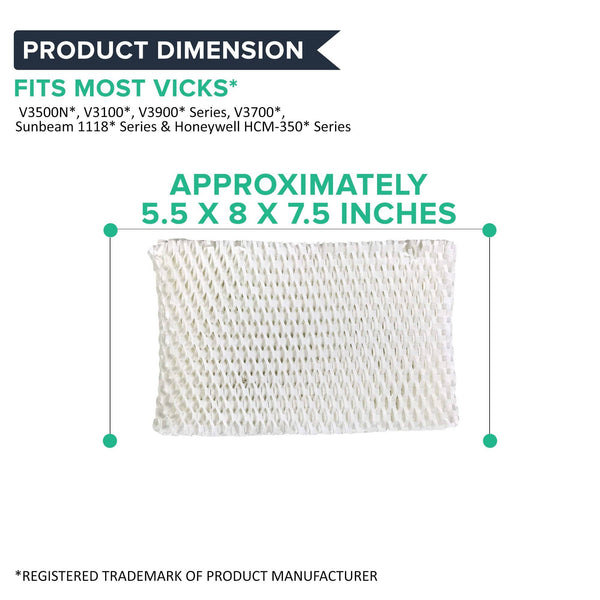 Replacement Humidifier Filter, Fits Vicks, Compatible with Part WF2