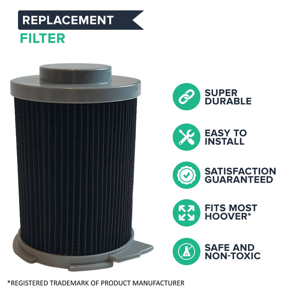 2pk Replacement Filters, Fits Hoover Windtunnel Bagless Canister, Washable & Reusable, Compatible with Part 59134033