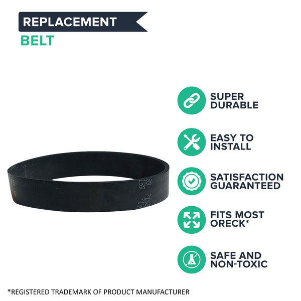 9pk Replacement Vacuum Belts, Fits Oreck XL Upright, Compatible with Part 030-0604 & XL010-0604