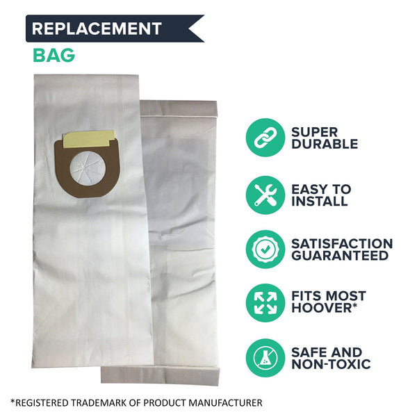 Replacement Type Y Windtunnel Paper Bags, Fits Hoover, Compatible with Part 4010100Y