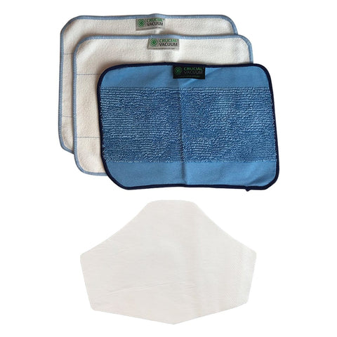 3pk Reusable Microfiber Cleaning Pads & 10PK Face Mask Filters for Free!
