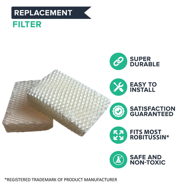 2pk Replacement Wick Filters, Fits Robitussin Humidifiers, Compatible with Part AC-813 & D13-C
