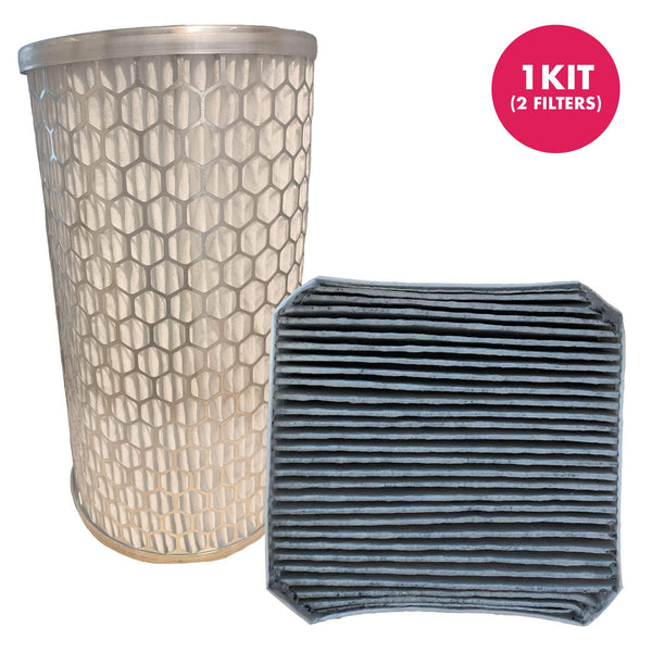 Think Crucial Replacement HEPA Style Pre Filter And Post-Filter Kit, Compatible with Gray Version 2.1 Designed to Fit Molekule (TM) Air Cleaner Purifier Machine