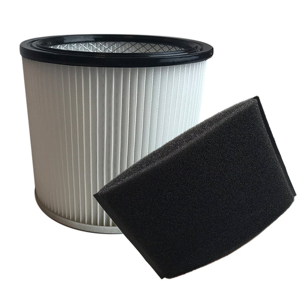 Think Crucial Replacement Cartridge Filter and Foam Sleeve Compatible with Shop-Vac Part # 9030400 and 9058500, Fits Shop-Vac 5 Gallon and Up Wet and Dry Vacuum Model – (2 Pack)