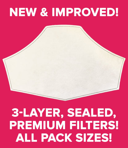 NEW 3-Layer Premium Pre-Cut Filters for Hedley & Bennett Face Masks
