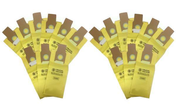 Crucial Vacuum Replacement Vacuum Bags - Compatible With Kenmore Part # 20-5068, 20-50681, Fits Kenmore 50688 & 50690, Kenmore Type O and Type U, Panasonic U-2, Sanyo PU-1
