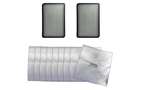2pk Replacement EF1 Filters & 9 5055 Cloth Bags, Fits Kenmore, Compatible with Part 86889, 20-5055, 20-50557 & 20-50558