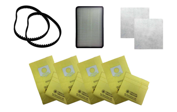 2pk Replacement CB1 Belts, 1 EF2 Filter, 2 CF1 Filters & 9 5055 Paper Bags, Fits Kenmore, Compatible with Part 86880, 86883, 20-5285 & 20-5055
