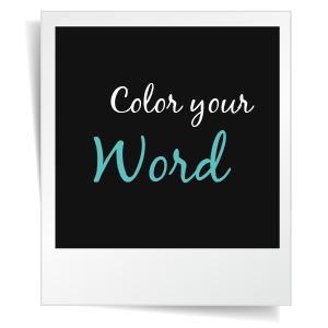 Color Your One Word