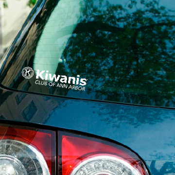 Ann Arbor Kiwanis Car Decal