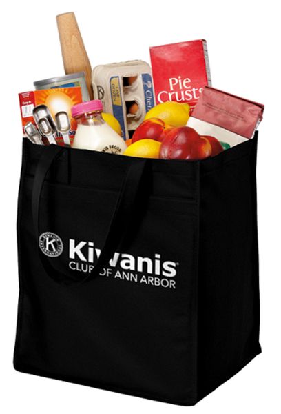 Ann Arbor Kiwanis Port Authority Extra Wide Grocery Tote B160