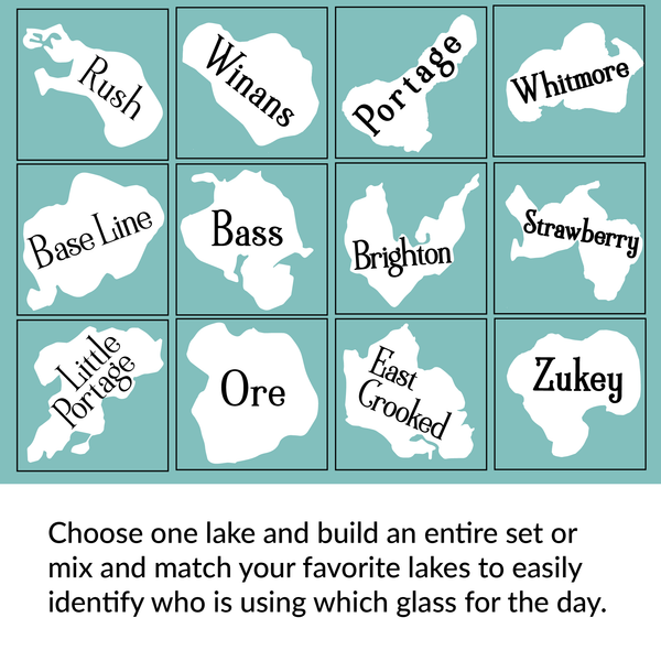 Mix and Match Custom Lakeside Glassware - Priced per glass