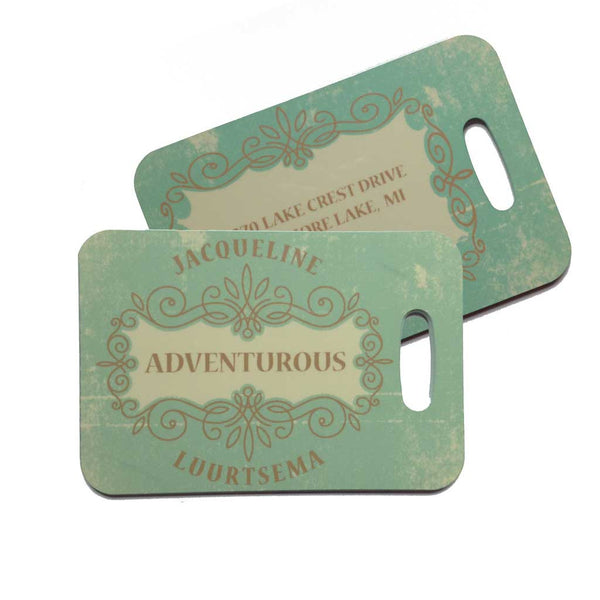 Defining Words™ Personalized Retro Luggage Tag