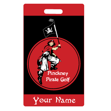 Pirate Golf Bag Tag