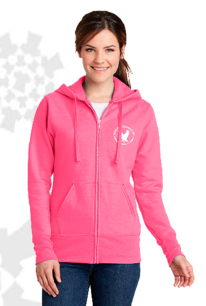 Haviland Elementary Port & Company Ladies Core Fleece Full-Zip Hooded Sweatshirt LPC78ZH