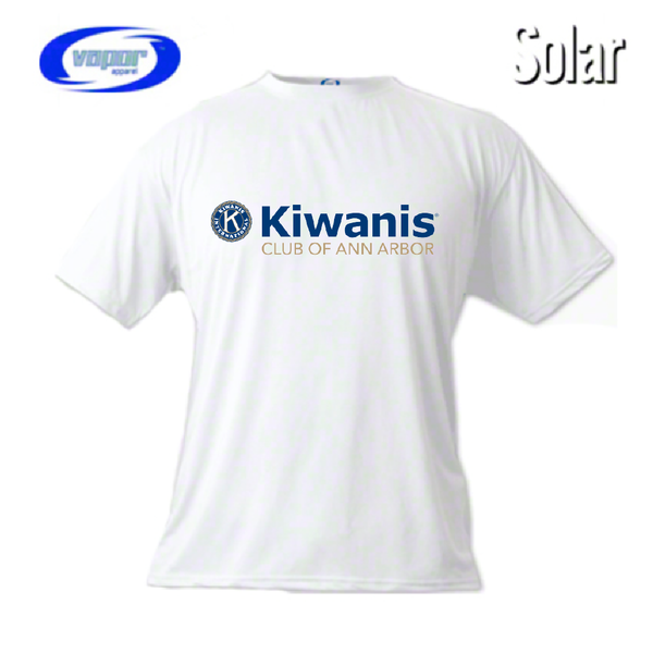 Ann Arbor Kiwanis Vapor Solar Two Sided Performance Tee
