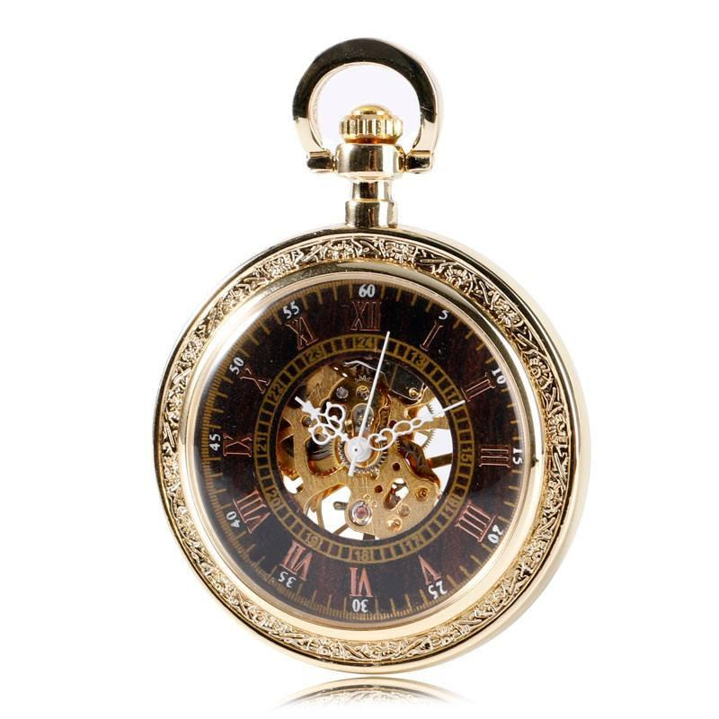 """Keeper' Golden Mechanical Pocket Watch"