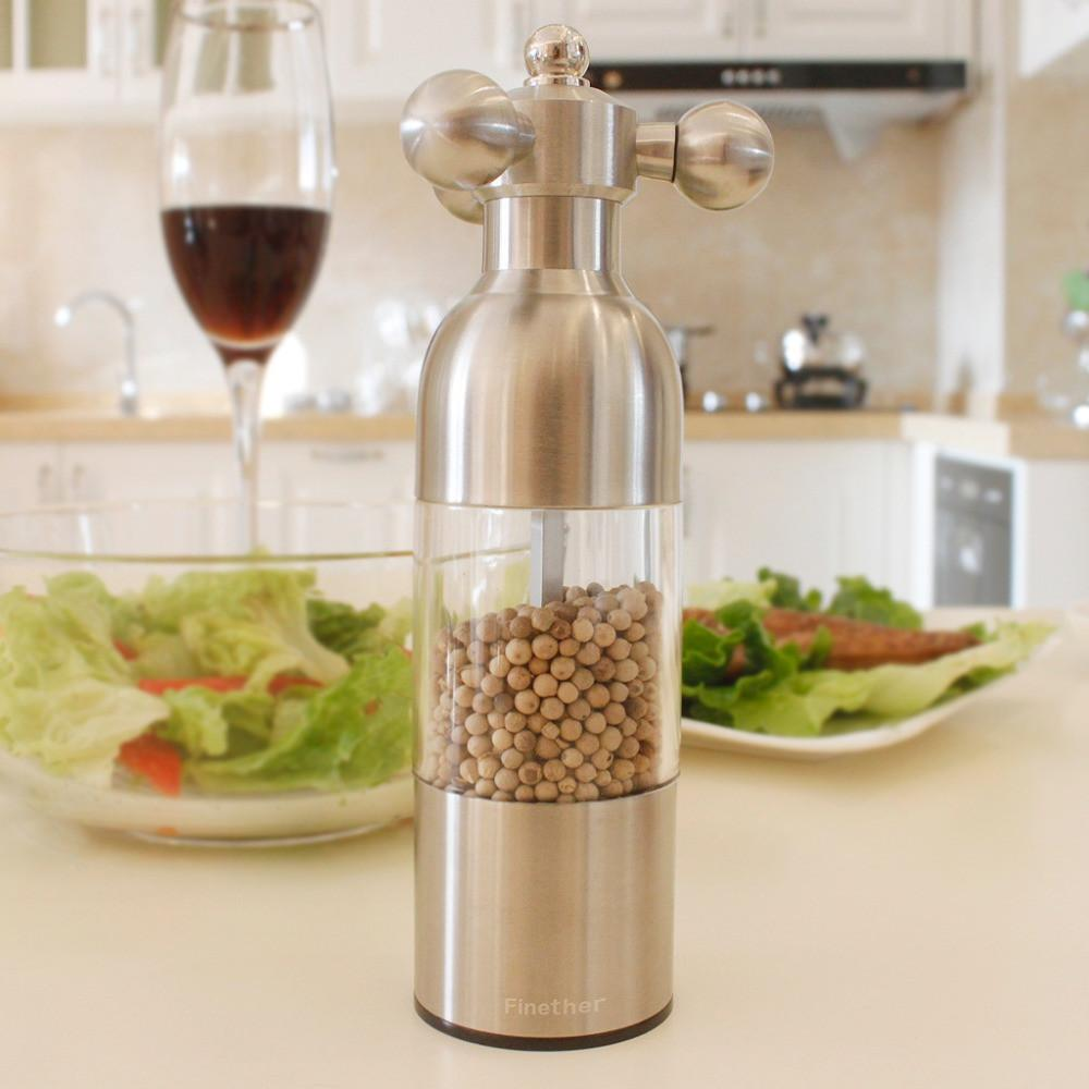 Stainless Steel Adjustable Pepper & Spice Grinder