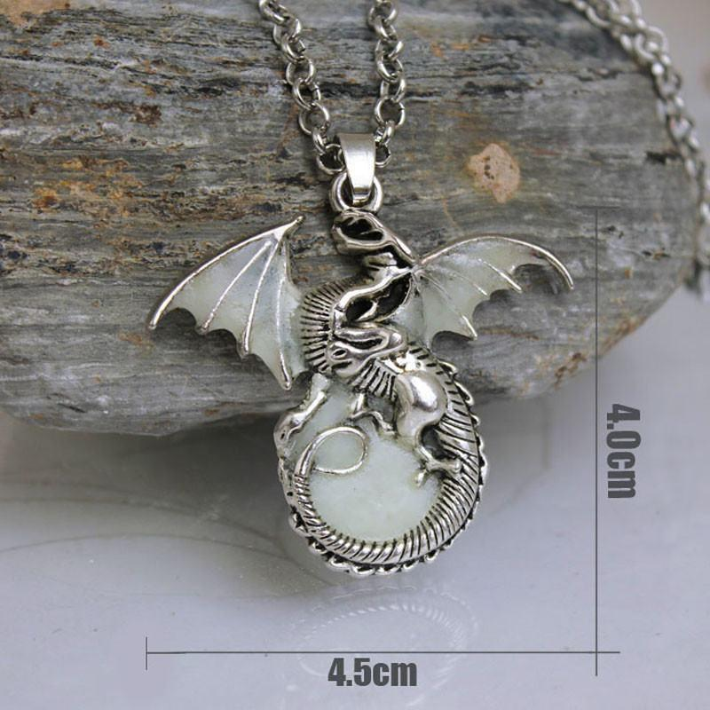 Luminous Vintage Dragon Necklace