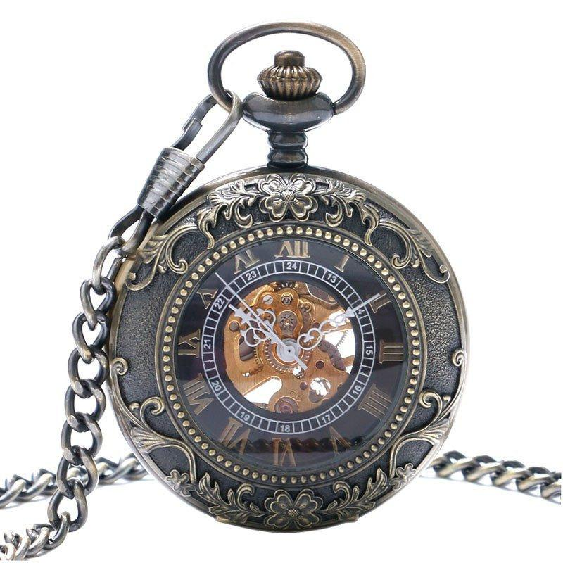 """Merlin"" Bronze Mechanical Pocket Watch"