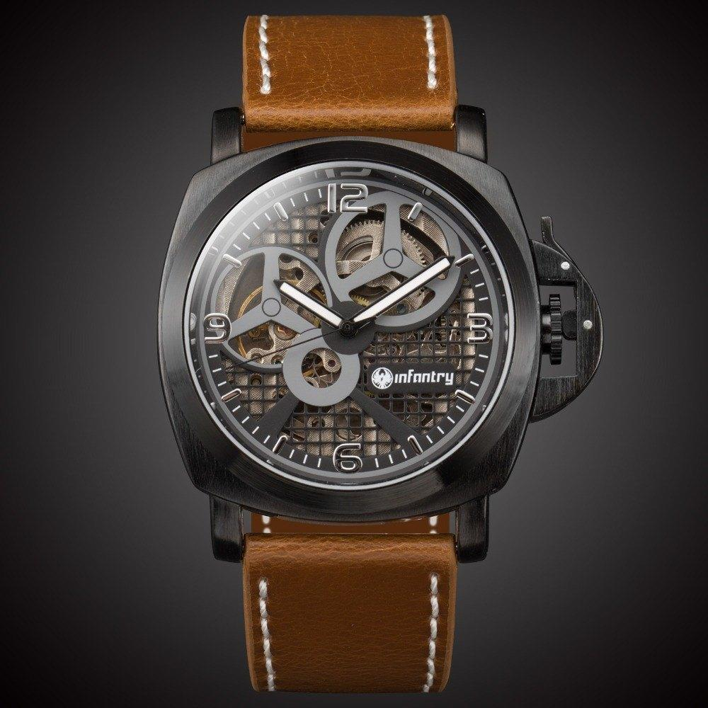 """The Knight"" Military Skeleton Watch"