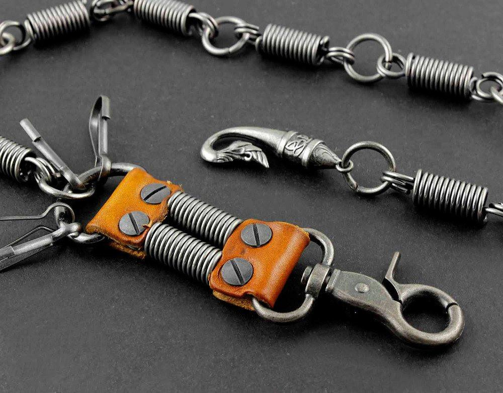 Steampunk Stainless Steel Pants Keychain