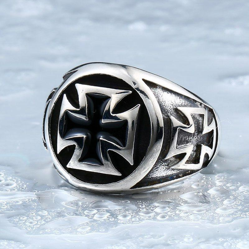 """Titanium Cross"" Ring"