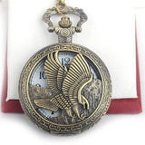 Classic Steel Eagle Mechanical Pocket Watch - Steampunk Utopia