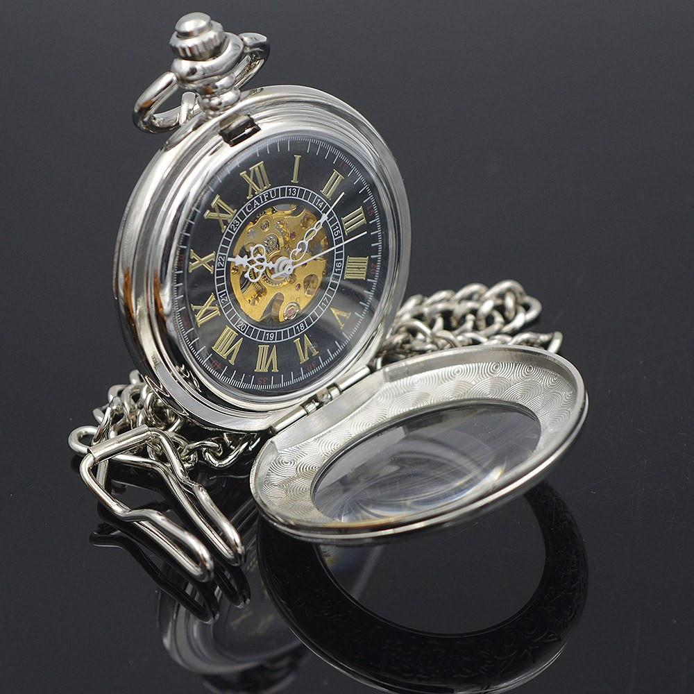 """The Silver Pearl"" Pocket Watch"