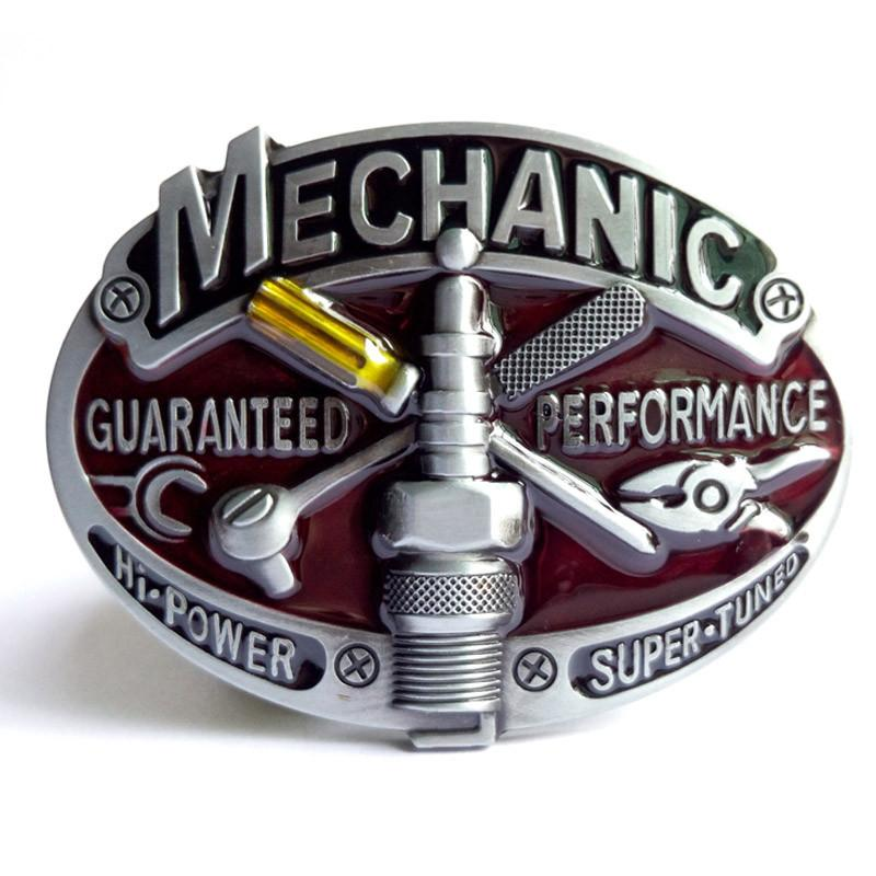 Classic Mechanic's Belt Buckle