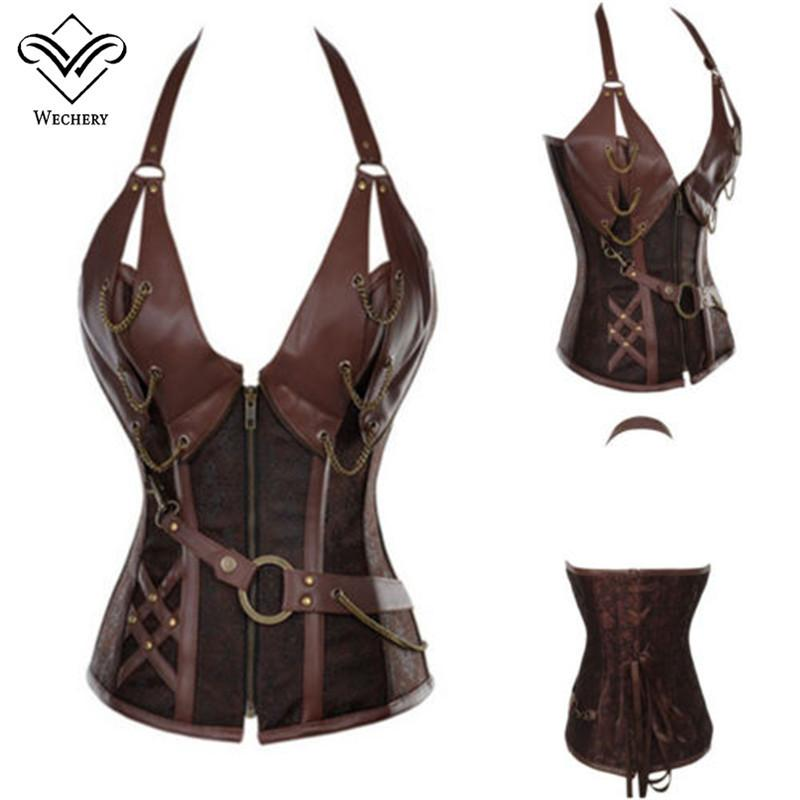 Steel Boned Steampunk Corset - Size S-6XL