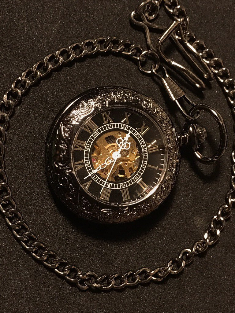 """The Black Pearl"" Pocket Watch"
