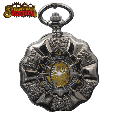 """The Black Rose"" Pocket Watch"