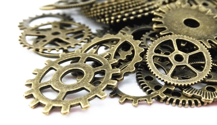 100 Grams Of Assorted Steampunk Gears