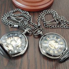Black Pearl/Mechanic Pocket Watch Bundle