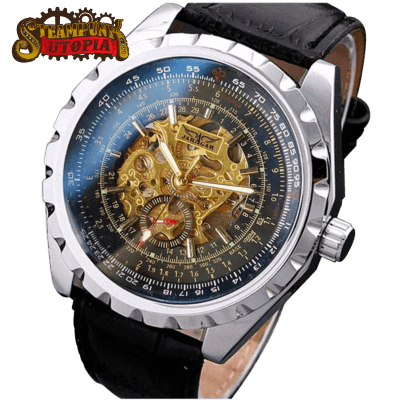 """The Photon"" Photochromic Skeleton Watch"