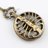 Bronze Spine Ribs Pocket Watch - Steampunk Utopia