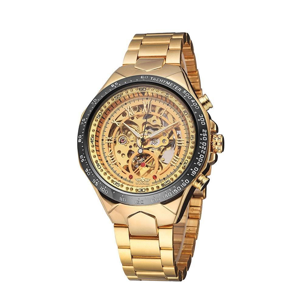 """The Warrior"" Military Skeleton Wrist Watch"