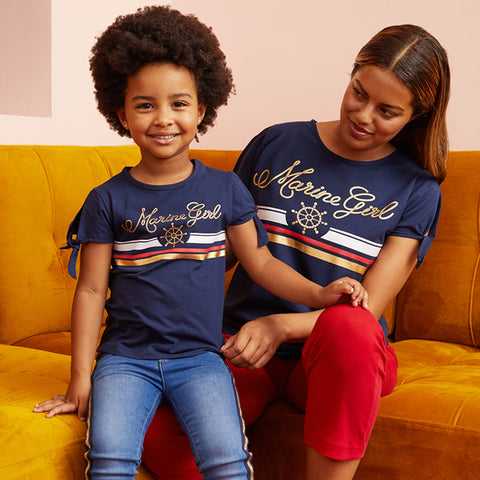 MOMMY LIKE ME UBS2 T-shirt Marine Girl