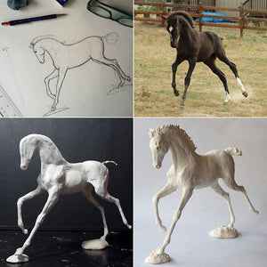 Q&A - Painting Air Dry Clay Horse Sculpture