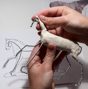 Air Dry Clay Sculpture Foundations II: Equine Anatomy and the Armature