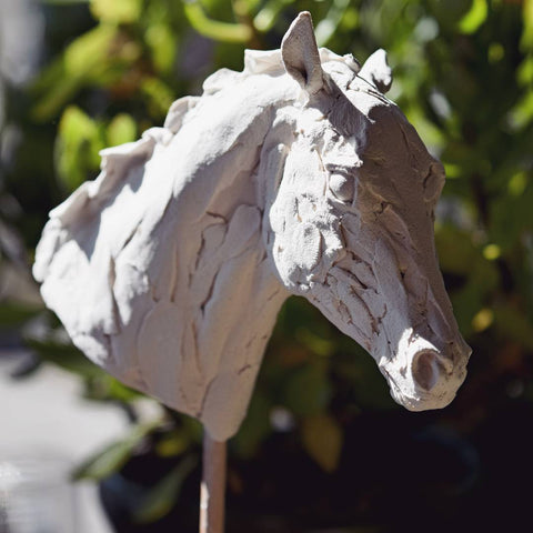 air dry clay horse head sculpture
