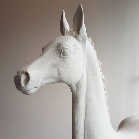 La Doll premix horse sculpture by Susie Benes