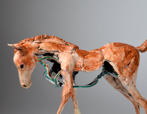 Susie Benes foal horse mini modern art sculpture
