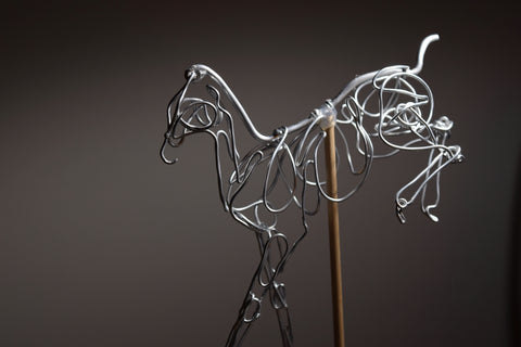 Wire armature for air dry clay equine sculpture