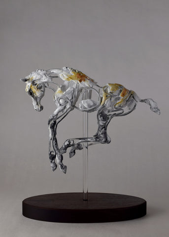 unique wire and air dry clay horse sculpture