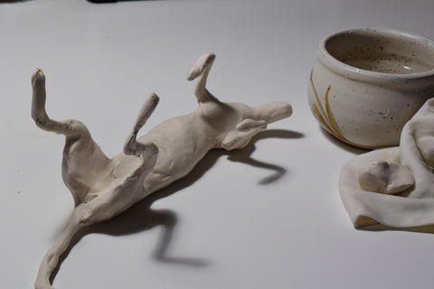 Animal sculpture first layer of creative paperclay air dry clay